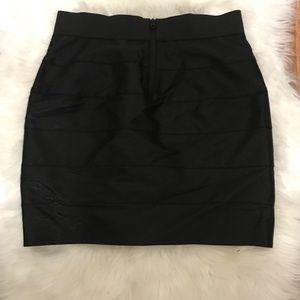 Armani Exchange A/X Black Mini Skirt Size 2